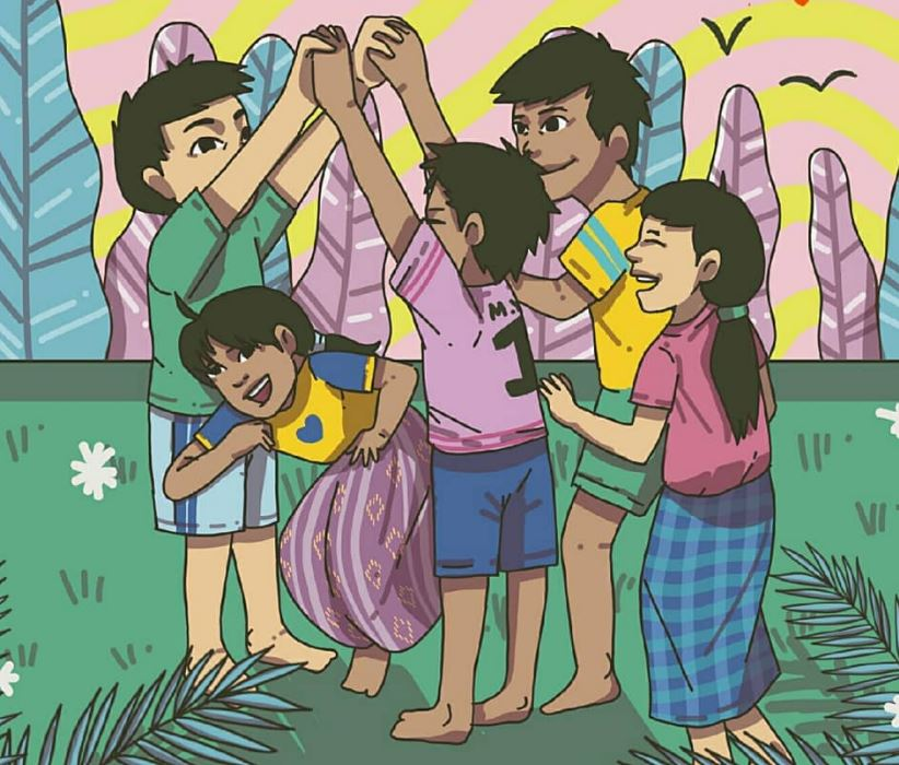 ilustrasi permainan anak tradisional © 2019 brilio.net