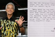 Ditulis tangan, surat pelajar untuk Ganjar Pranowo ini bikin haru