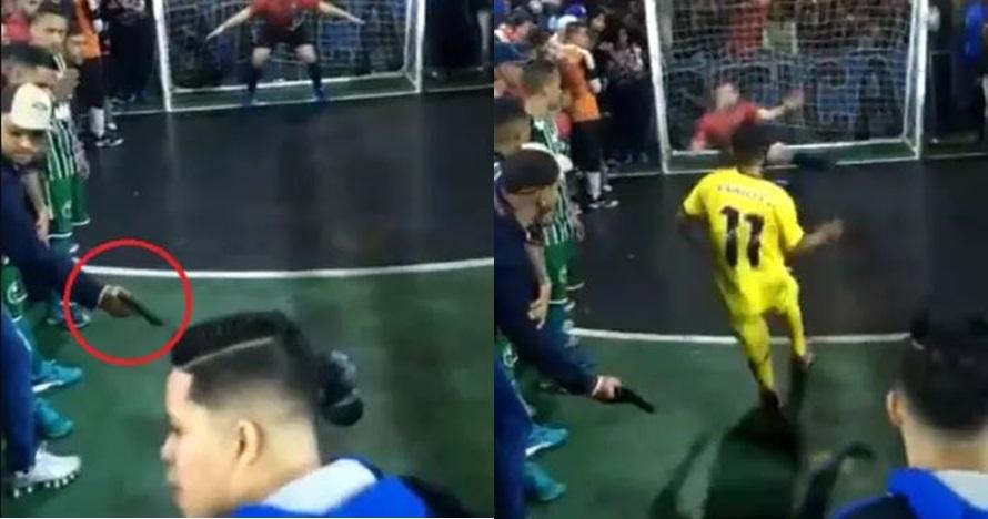 Diancam pakai pistol, pemain futsal ini gagal eksekusi penalti