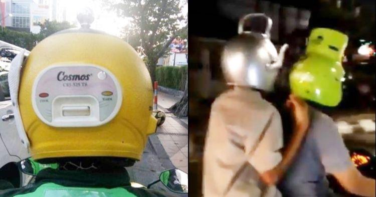 10 Helm pengendara motor terinspirasi peralatan dapur ini kocak