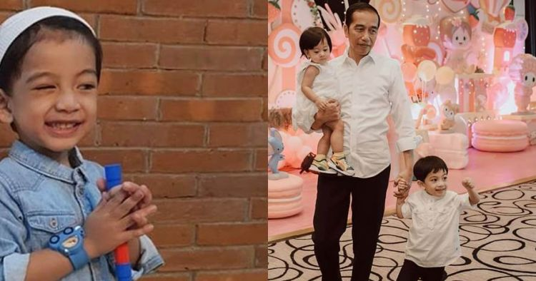 Jokowi foto bareng keluarga, posisi duduk Jan Ethes bikin gagal fokus
