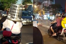10 Kelakuan emak-emak saat dibonceng, mau protes takut durhaka