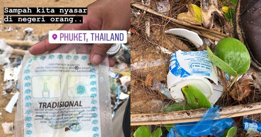 Sampah produk Indonesia hanyut sampai Thailand, fotonya bikin miris