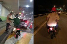 Viral pemuda bantu pria tua pulang kampung saat malam Idul Adha