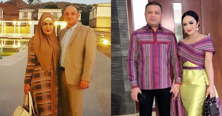 Momen kompak Krisdayanti dan mantan Raul Lemos saat gendong cucu