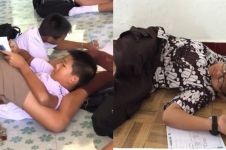 10 Tingkah iseng siswa waktu belajar ini bikin susah nahan tawa