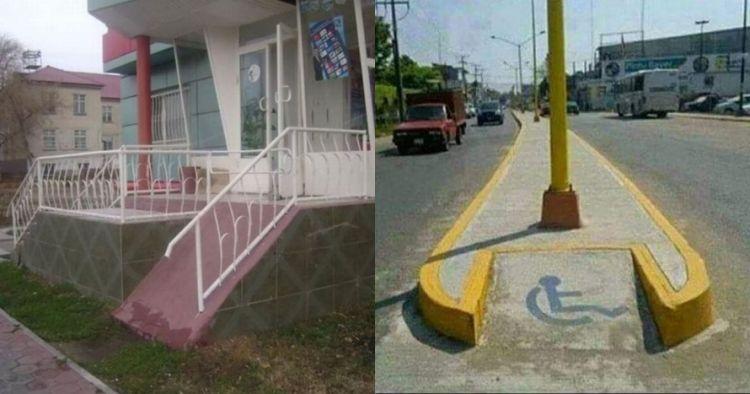 15 Potret fasilitas untuk pengguna kursi roda bikin gagal paham