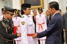7 Momen pelantikan Paskibraka Nasional 2019 oleh Presiden Jokowi