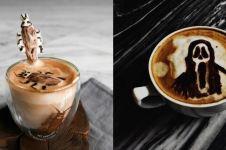 10 Bentuk latte art ini absurdnya bikin ragu nyeruput