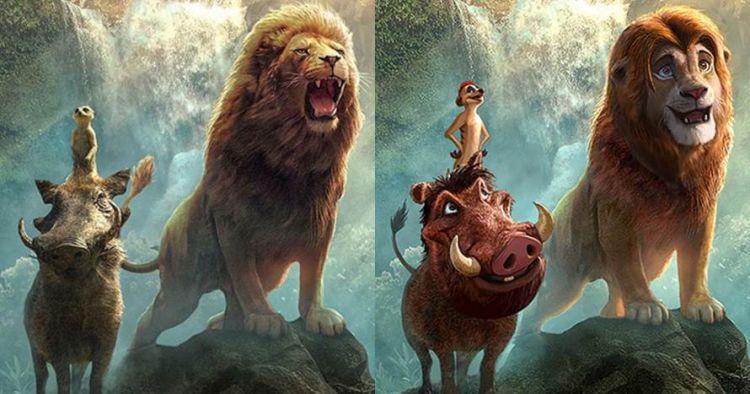 10 Scene Lion King buatan seniman ini lebih nyata dari film, top!