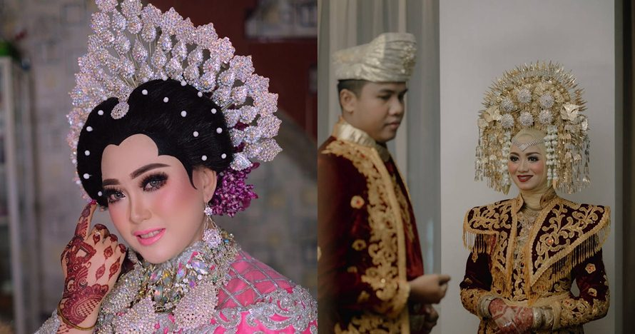 12 Inspirasi mahkota adat pernikahan tradisional Indonesia, elegan