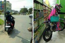 10 Kelakuan bapak-bapak saat naik motor ini bikin geleng kepala