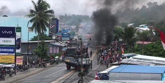 kerusuhan di Manokwari © 2019 merdeka.com
