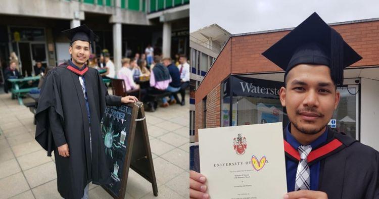 Pernah drop out sekolah, pria ini jadi lulusan terbaik di Inggris