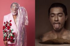 8 Gaya pemotretan nyentrik Miller Khan, wajah joker hingga plastik