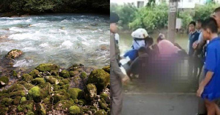Cinta tak direstui, pasangan ini nekat lompat ke sungai & hampir mati
