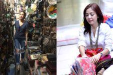 Gaya glamor 9 seleb belanja di pasar, cetar pakai barang branded