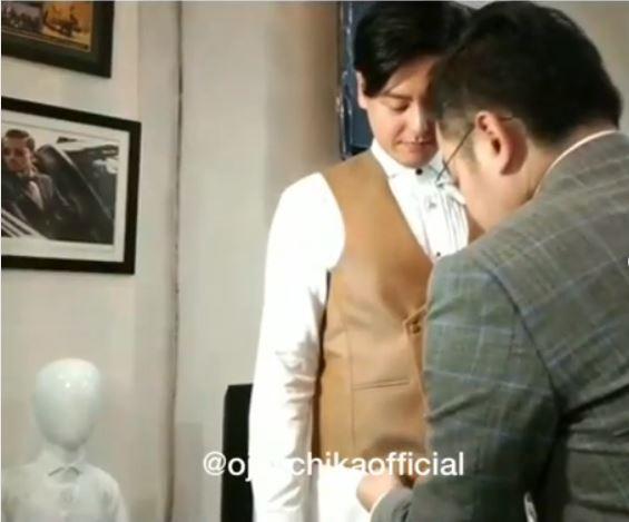 Roger fitting baju instagram