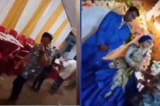 Cuci tangan usai salami mantan yang nikah, aksi pria ini viral