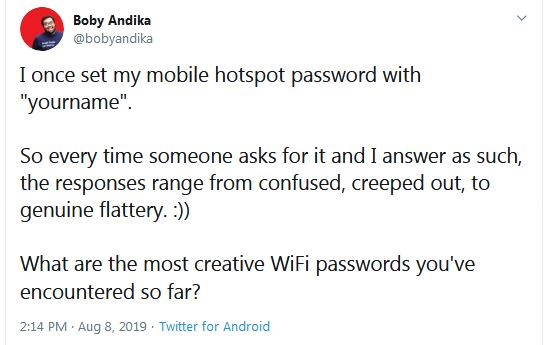 Password Wi-Fi  istimewa