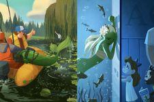 10 Animasi bertema The Little Mermaid ini detailnya bikin takjub