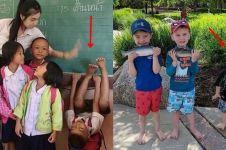 Pose 10 bocah saat foto bersama ini absurd abis, bikin ketawa deh