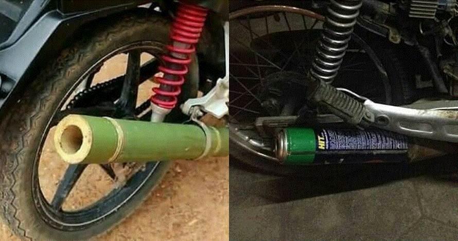 10 Modifikasi knalpot sepeda motor ini bikin tepuk jidat