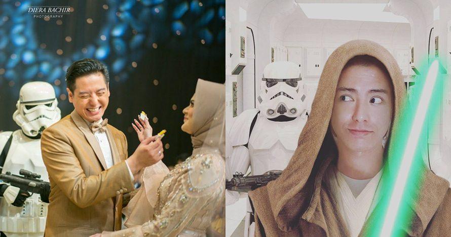 7 Potret bukti Roger Danuarta fans berat Star Wars