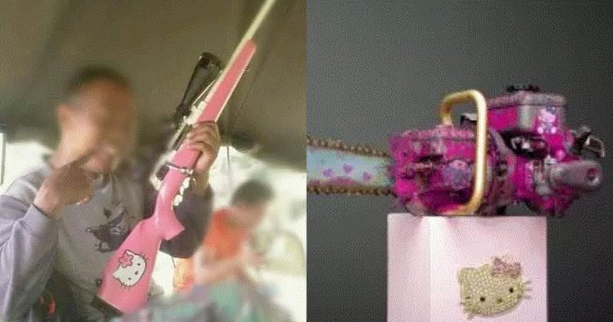 10 Senjata & benda tajam bercat Hello Kitty ini bikin gagal garang