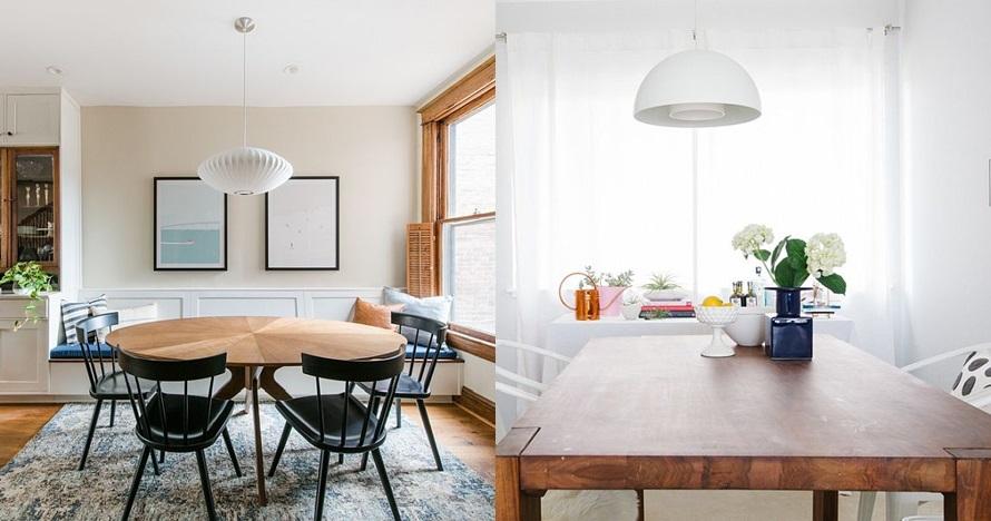 20 Inspirasi lampu gantung ruang makan, artistik & bikin nyaman