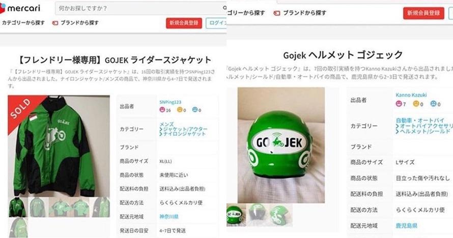 Dijual di e-commerce Jepang, harga helm ojek online ini fantastis