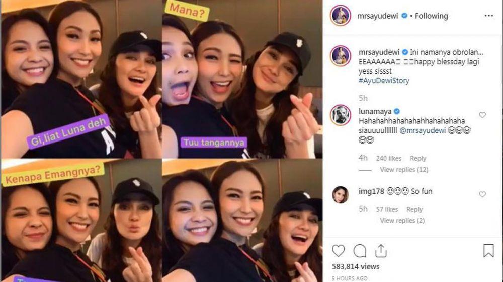 Luna Maya disindir Ayu Dewi instagram