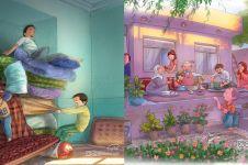 10 Ilustrasi ini gambarkan serunya hidup tanpa gadget di masa kecil