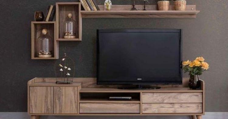 20 Desain Meja Tv Kekinian Rumah Makin Bergaya