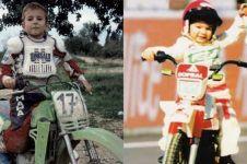 Potret masa kecil 7 pembalap top MotoGP, wajahnya manglingi