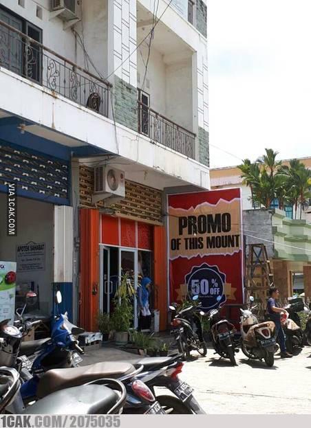 promo pedagang kaki lima bikin geleng kepala © berbagai sumber
