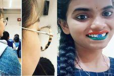 7 Tutorial nyeleneh pemakaian makeup ini gokil banget