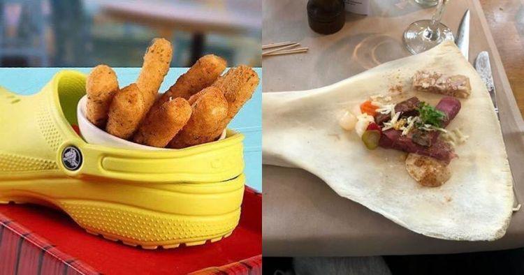 10 Cara penyajian makanan restoran ini absurdnya bikin melongo