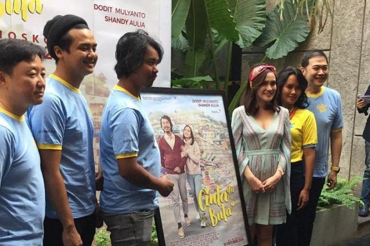 Shandy Aulia ungkap pengalaman akting mesra bareng Dodit Mulyanto