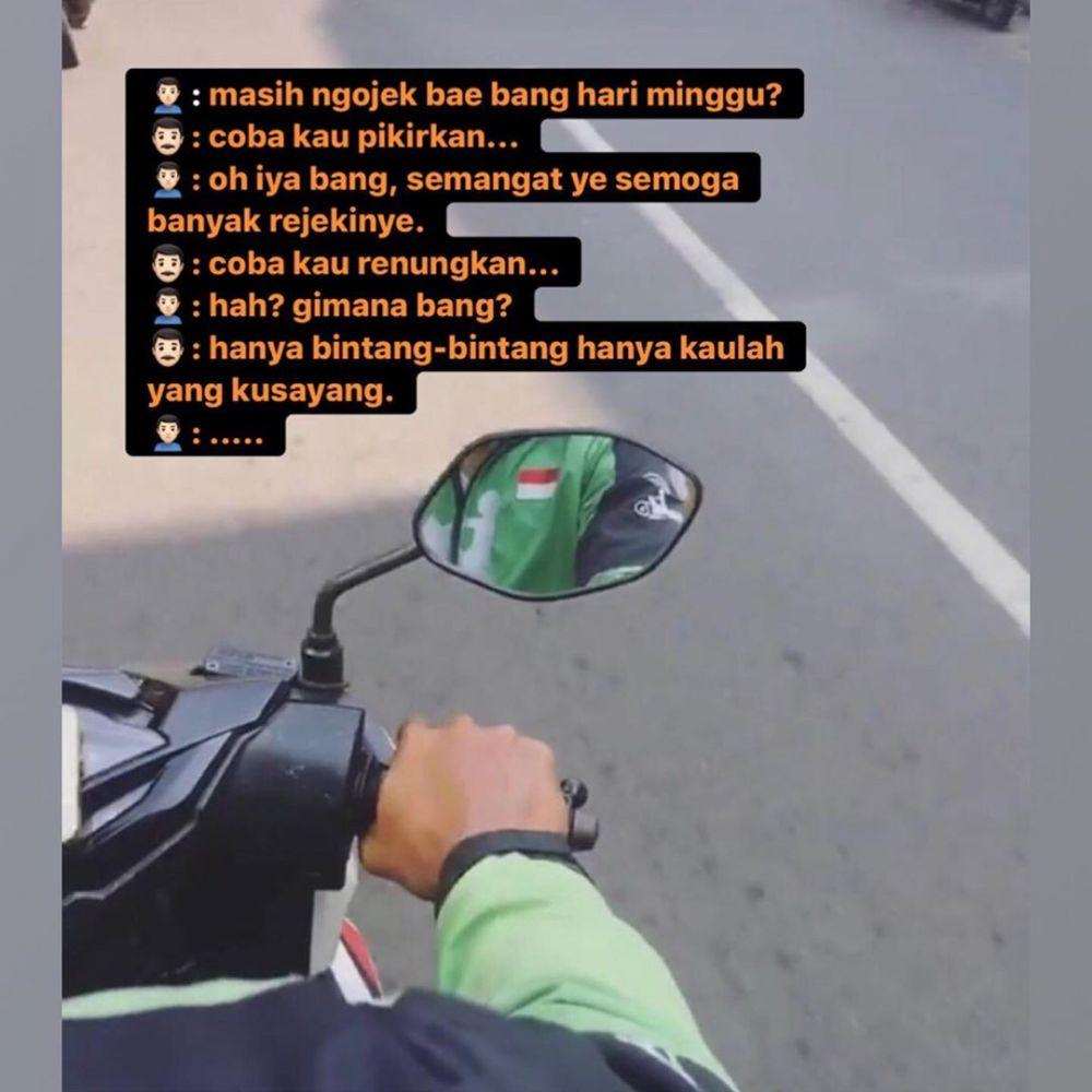 obrolan absurd driver ojek online penumpang © berbagai sumber