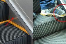 Bukan buat bersihin sepatu, ini fungsi penting sikat di eskalator