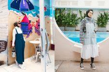 12 Padu padan overall untuk hijabers, stylish dan kekinian