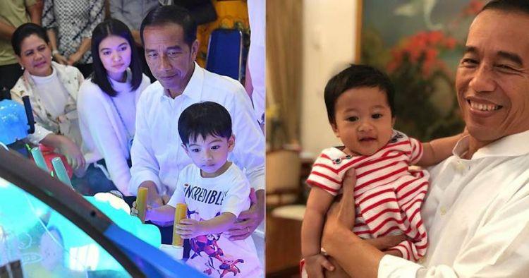 Gendong Jan Ethes & Sedah Mirah sekaligus, gaya Jokowi jadi sorotan