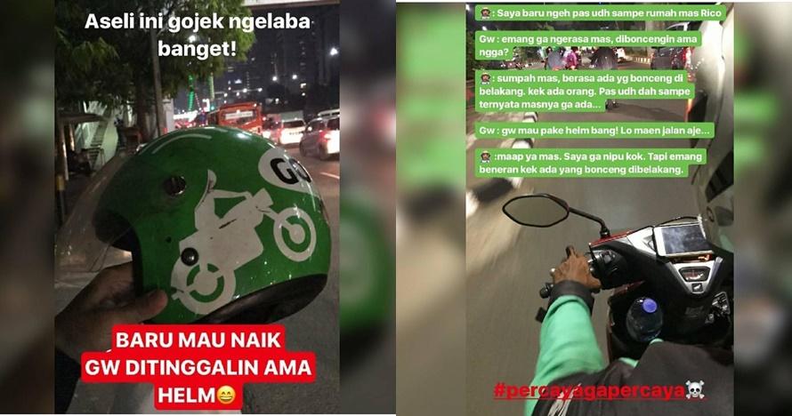 penumpang ditinggal driver ojek online kocak © berbagai sumber