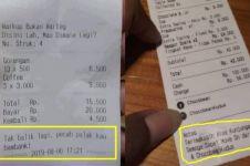 10 Pesan tersembunyi di nota makanan ini bikin pembeli tepuk jidat