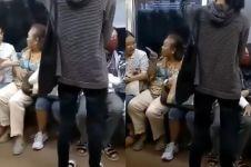 Viral penumpang KRL ngamuk gara-gara dipanggil 'nenek'