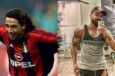 Transformasi mantan pemain AC Milan kini jadi binaragawan