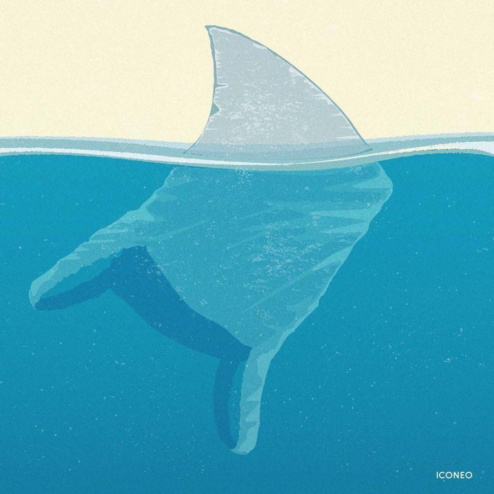 ilustrasi sampah laut Instagram
