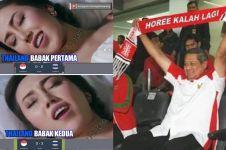 11 Meme lucu Timnas Indonesia kalah telak dari Thailand