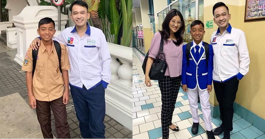 7 Momen Betrand Peto ke sekolah baru diantar Ruben & Sarwendah